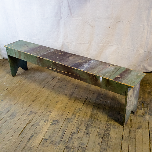 Rustic 6ft Green Blue Wood Bench