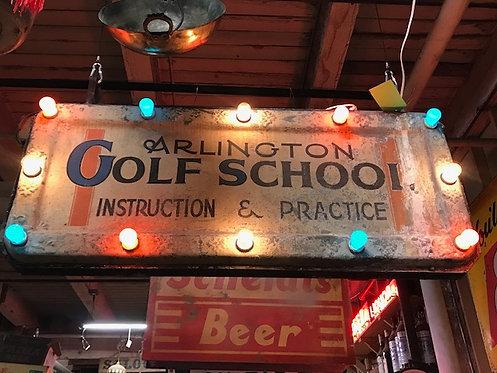 Arlington Golf School Marquee Sign