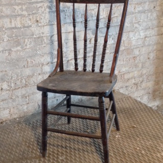 2 in stock wooden, antique, armless, dark brown, dining room, kitchen chair