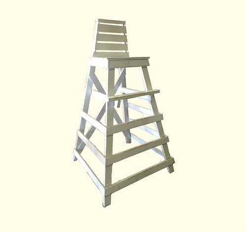 White Wooden Lifeguard Chair
