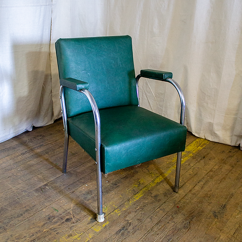 Dark Green Salon Chair