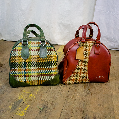 Plaid and Houndstooth Bowling Bags