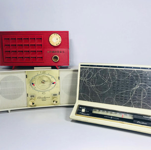 Admiral (top left) Airline (bottom left) General Electric (right) Radio