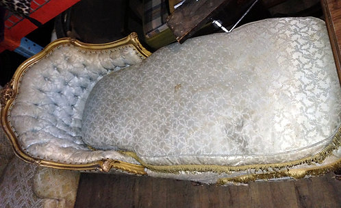 Blue & Gold Chaise Lounge