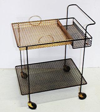 Black and Gold Metal Cart