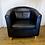 Thumbnail: Black Leather Armchair