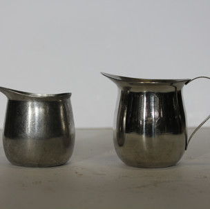 Silver creamers