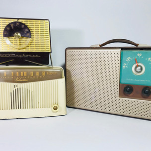 Westinghouse (top left) Silvertone (bottom left) Emerson (right) Radio