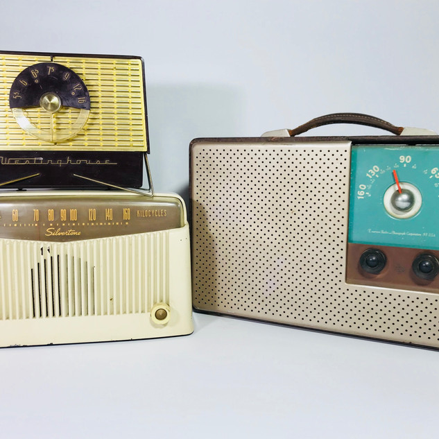 Westinghouse (top left) Silvertone (bottom left) Emerson (right) Radio