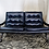 Thumbnail: Black Leather Sling Back Couch