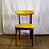Thumbnail: Yellow Leather and Wood Chair