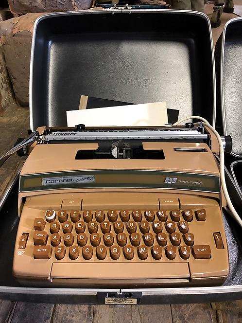 Brown Smith Corona Typewriter Coronet