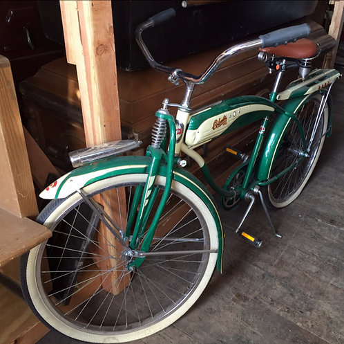 Green and White Bike