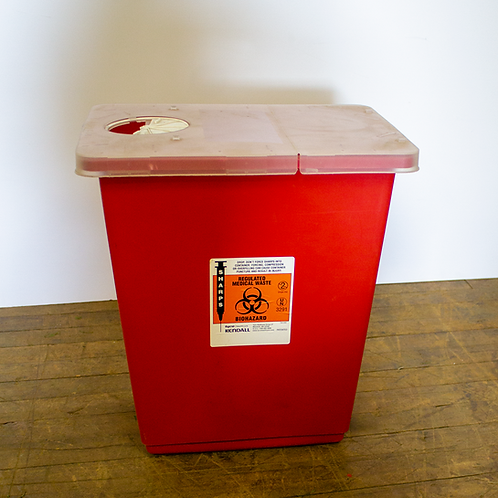 Hazmat Waste Bin BioHazard for Needles