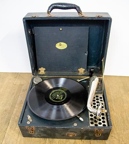 Black Portable Record Player