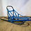 Blue Wooden Dog Sled Low Angle
