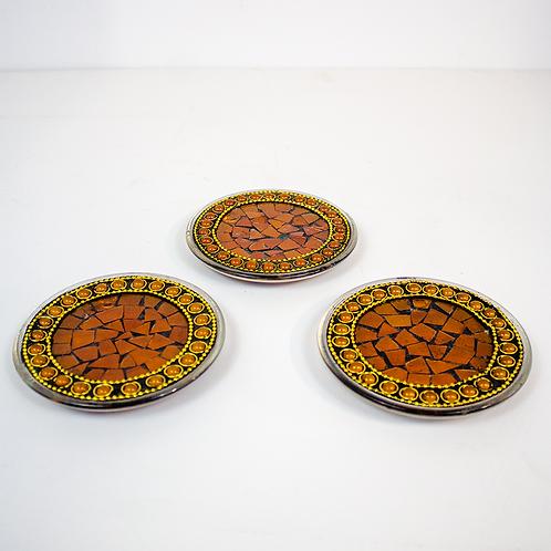 Amber Mosaic Coasters