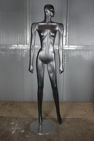 Silver Future Lady Statue
