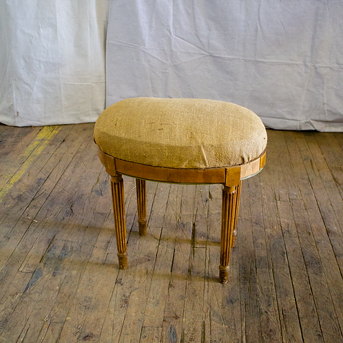 Burlap Cushion Short Stool