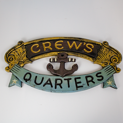 Crew's Quarters Wood Sailing Sign