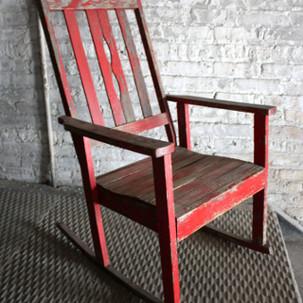 Red Rocking Chair  $45.00 per week rental