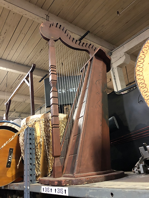 Brown Wooden Harp