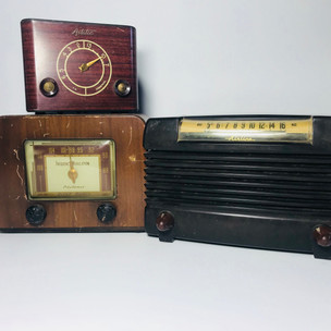Astatic (top left) Pilotuner (bottom left Airline (right) Radio