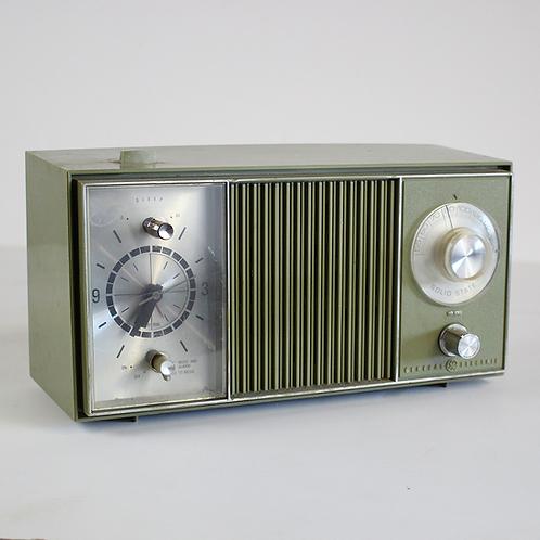 Green GE 1960s Clock Radio
