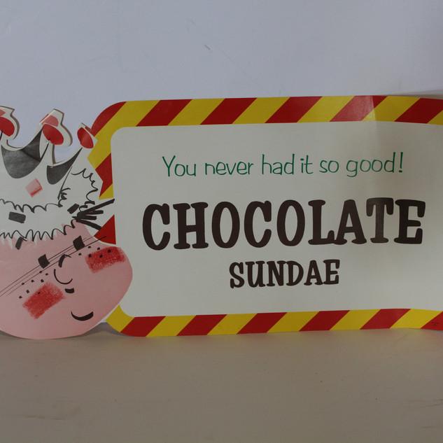 Chocolate Sundae sign