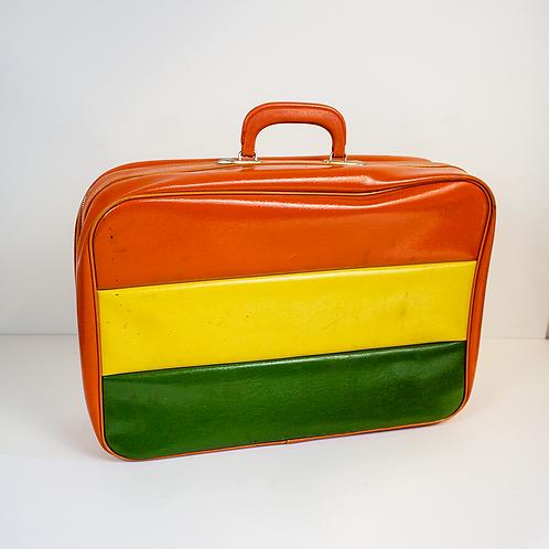 Orange Yellow Green Luggage