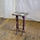 Thumbnail: Wood Top Stool Side Table with Metal Legs