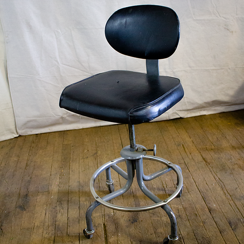 Black Rolling Office Lab Chair