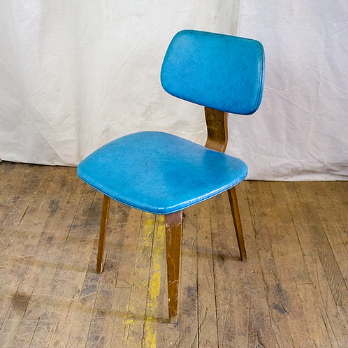 Blue Bentwood MCM Chair