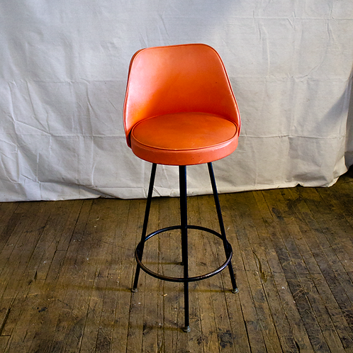 Orange Bar Stool