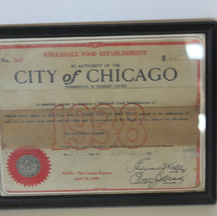 City of Chicago 1938 Wholesale Food establishment legal document