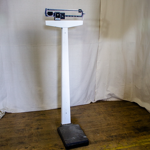 White Contemporary Doctor's Office Scale