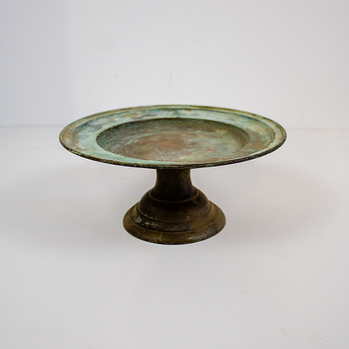 Oxidized Silver Cake Stand