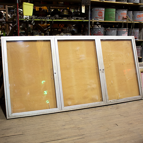 8ft Enclosed Bulletin Board w/ Three Doors