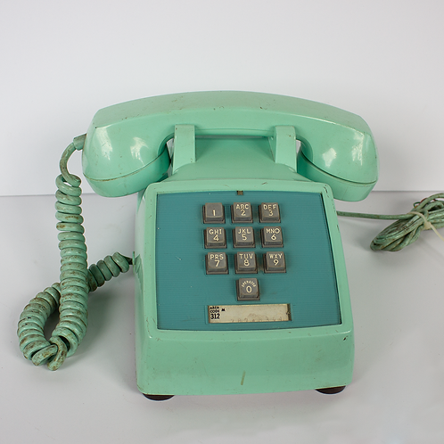 Aqua Push Button Telephone 1960s