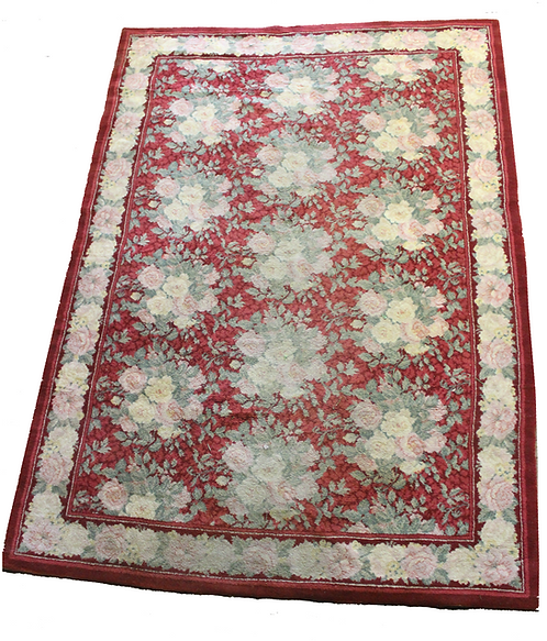 #93 Red and Pink Rose Rug