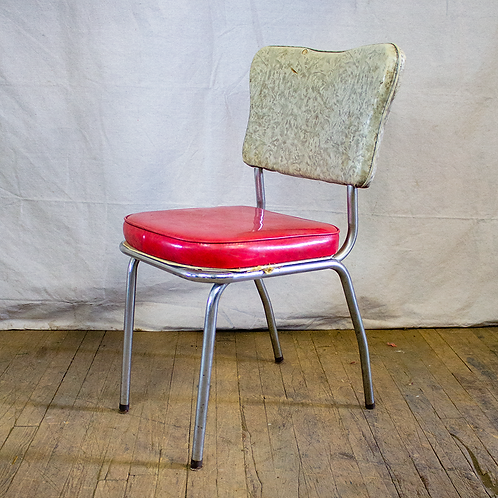 Red and White Diner Chair