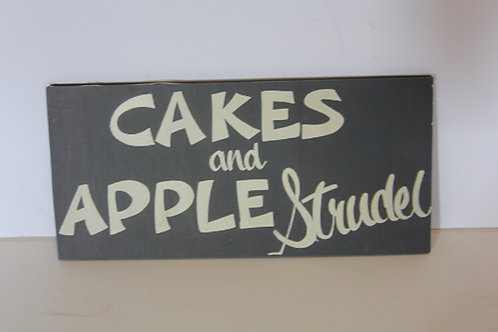 Cakes and Apple Strudel Diner Sign