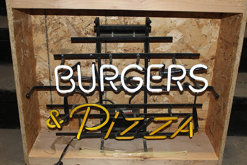 Burgers & Pizza Neon Sign