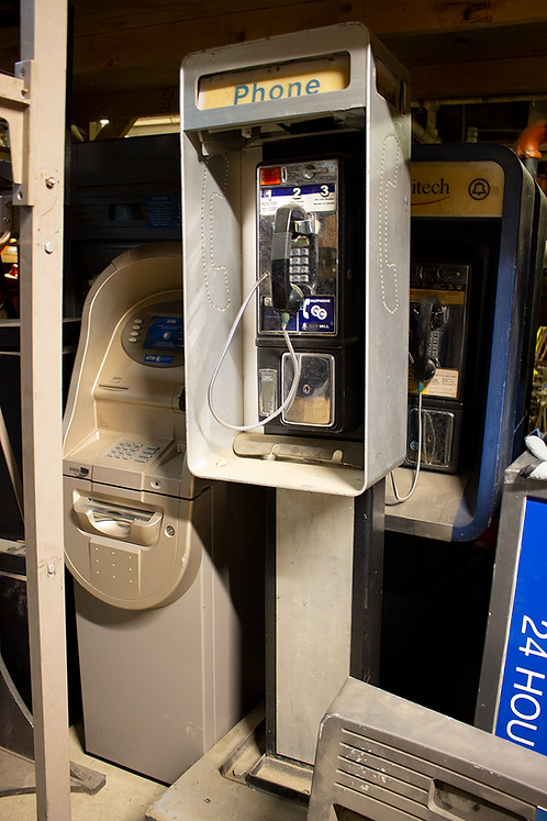 Aluminum Pay Phone Telephone Booth on Stand