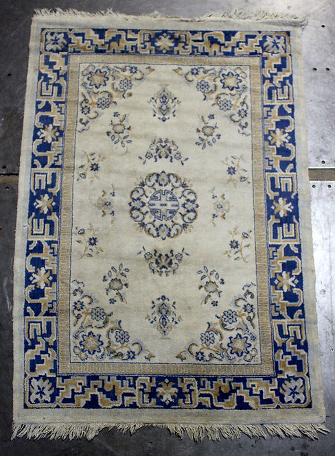 #20 Ivory and Blue Persian Rug
