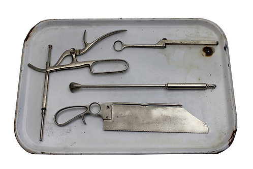 Tray of Medical Surgical Tools