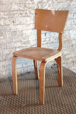 4 in stock Light wood natural finish wooden armless chairs