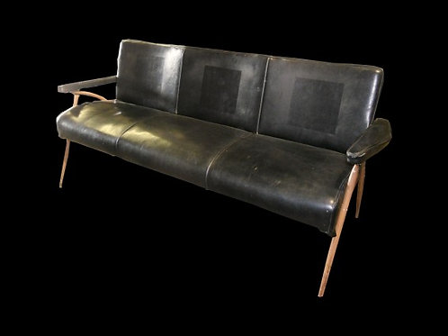 Black Mid-Century Modern Couch