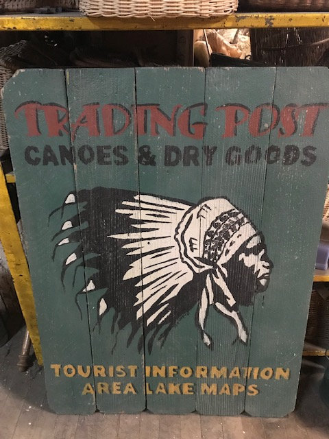 Native American Trading Post Sign
