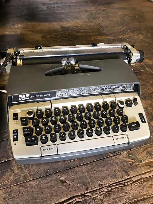 Grey Smith Corona Typewriter Electra 120